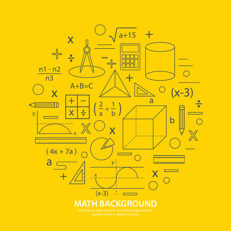 math icon background Ilustrace