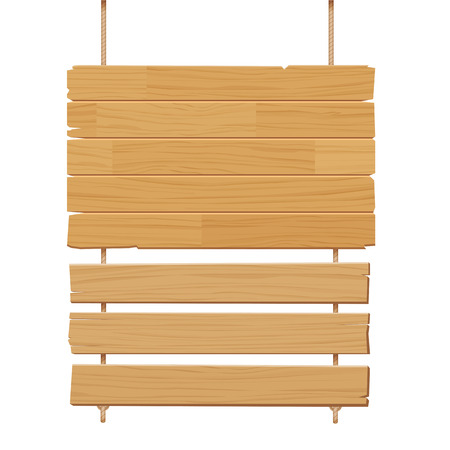 Vector houten bord geïsoleerd op een witte achtergrond Stock Illustratie