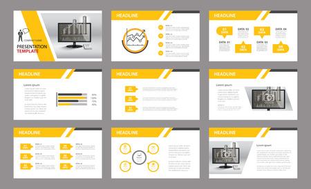 Zestaw prezentacji template.Use w raporcie rocznym, firmowe, ulotki, marketing