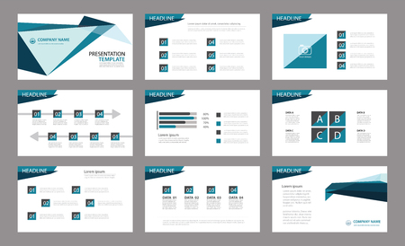 Set of presentation template.Use in annual report, corporate, flyer, marketing Фото со стока - 63665924