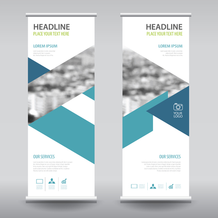 banner design: roll up business brochure flyer banner design vertical template vector, cover presentation abstract geometric background, modern publication x-banner and flag-banner