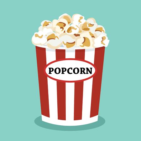 set of popcorn vector flat design