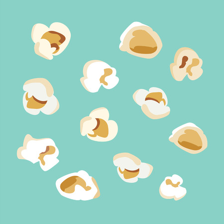 set of popcorn vector flat  design Illustration