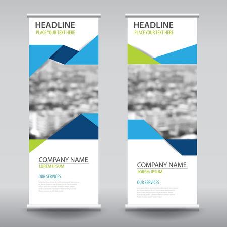 oprollen zakelijke brochure flyer banner ontwerp verticaal template vector, cover presentatie abstract geometrische achtergrond, modern publicatie x-banner en vlag-banner Stock Illustratie