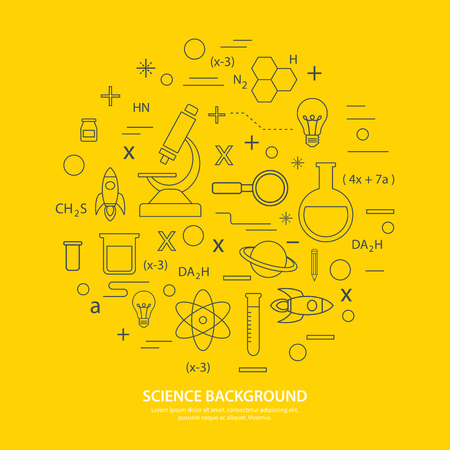 neutrons: science icon background