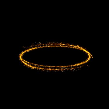 glitz: gold glittering bokeh stars tail dust