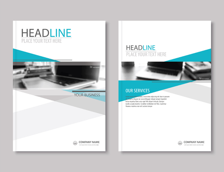 Roczne sprawozdanie broszura szablon projektu ulotki. Profil firmy biznesowych headline.Leaflet prezentacja płaska tła.