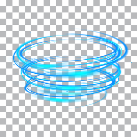 ray trace: vector light glowing effect on isolated background