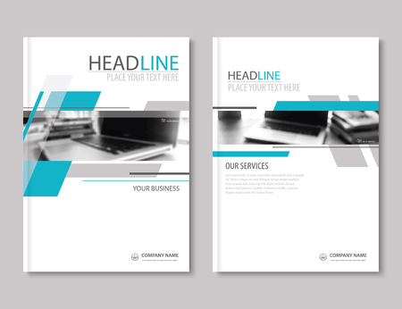 profile: Annual report brochure flyer design template. Company profile business headline.Leaflet cover presentation flat background.