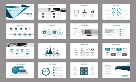 powers: Set of presentation template.Use in annual report, corporate, flyer, marketing
