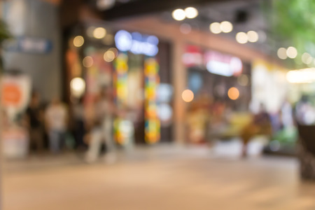 departmentstore: Blurred of shopping in department store with bokeh background