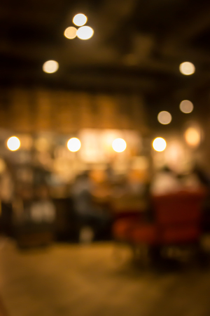 restaurant dining: Cafe blur background with bokeh.Restaurant abstract blur. Stock Photo
