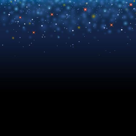 La stella magica splende il cielo. Vector lo spazio magico del cielo di scintillio. Glamour Christmas Eve background Vettoriali