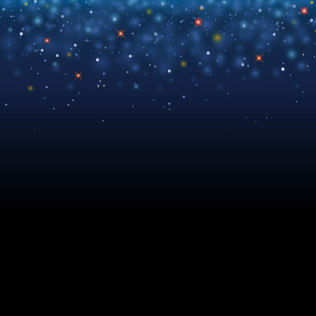 christmas star background: Magic star shine sky. Vector magical glitter sky space. Glamour Christmas Eve background Illustration