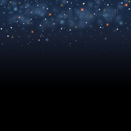 star background: Magic star shine sky. Vector magical glitter sky space. Glamour Christmas Eve background Illustration