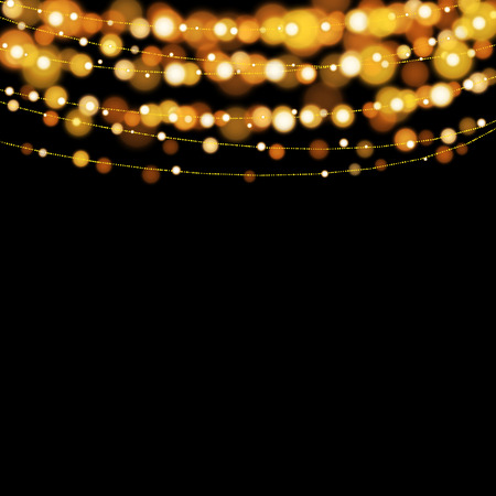 glowing: Christmas lights design elements background. Glowing lights for Xmas Holiday greeting card design.