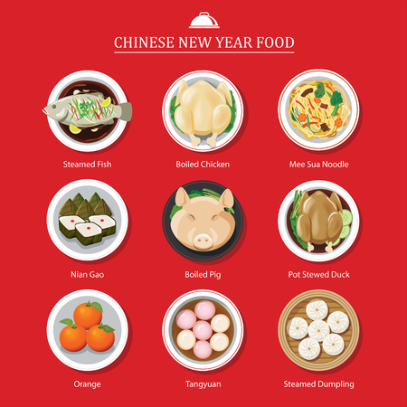 year: food for chinese new year Illustration
