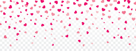 transparency: Valentine background with hearts falling on transparent