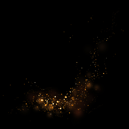 star product: Gold glittering star light and bokeh.Magic dust abstract background element for your product.