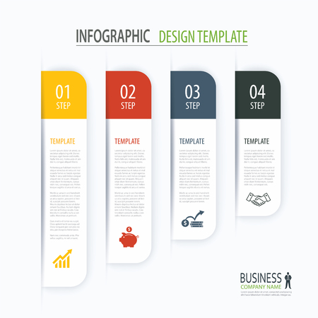 web template: Modern tab index infographic options template with paper sheets. Step business growth. Vector element can be used for web design and workflow layout.