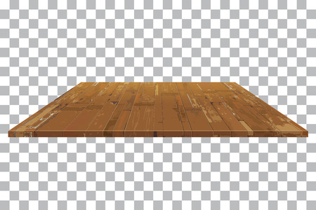 vector empty wooden shelf Table isolated background