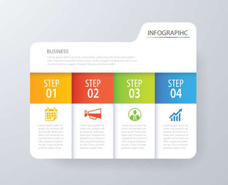 Infographic Timeline Template For Business Processes, Workflow