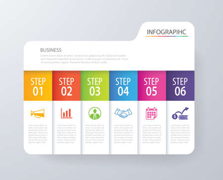 web template: Infographic tab index design template for business processes, workflow layout, diagram, annual report, web design, etc.