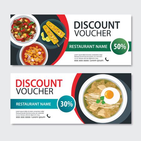 Discount voucher mexican food template design. Illustration