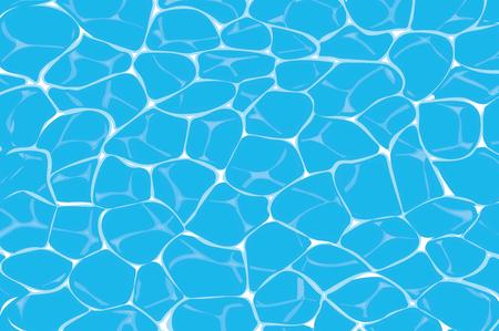 푸른 수영장이나 바다 물 배경에서 부식제의 상위 뷰