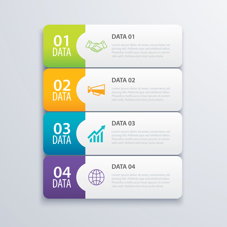Infographic Tab Index Design Template For Marketing, Workflow ...