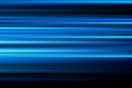 long night: blue vector abstract speed motion blur of night lights in the city long exposure background