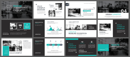 Élément vert pour glisser infographie sur fond. Modèle de présentation. Utilisez pour le rapport annuel des entreprises, dépliant, marketing d'entreprise, dépliant, publicité, brochure, style moderne.