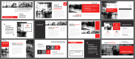Red and white element for slide infographic on background. Presentation template. Use for business annual report, corporate marketing, leaflet, advertising, brochure, modern style.
