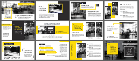 Yellow and white element for slide infographic on background. Presentation template. Use for business annual report, corporate marketing, leaflet, advertising, brochure, modern style.