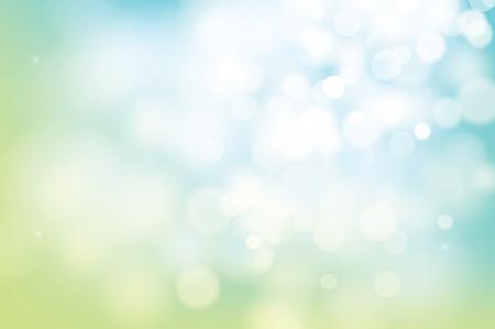 Bokeh verde primavera desenfoque de fondo abstracto.