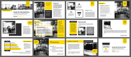 Yellow element for slide infographic on background. Presentation template. Use for business annual report, flyer, corporate marketing, leaflet, advertising, brochure, modern style. Vectores