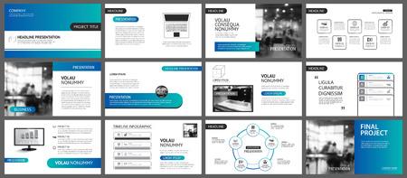 Plantilla de presentación y diseño de diapositivas. Diseño de fondo geométrico degradado azul y verde. Se utiliza para informes anuales de negocios, volantes, marketing, folletos, publicidad, folletos, estilo moderno.