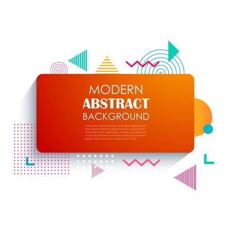 Abstract red rectangle geometric pattern design and background. Use for modern design, cover, template, decorated, brochure, flyer. Illustration