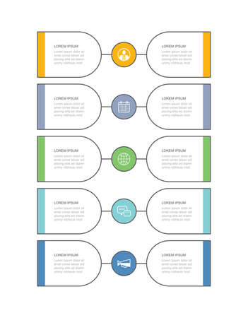 10 data infographics tab thin line timeline template. Vector illustration abstract background. Can be used for workflow layout, business step, banner, web design.