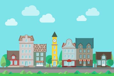 City landscape illustration. Illustration