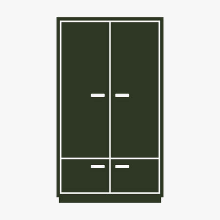 Cupboard vector icon. 向量圖像