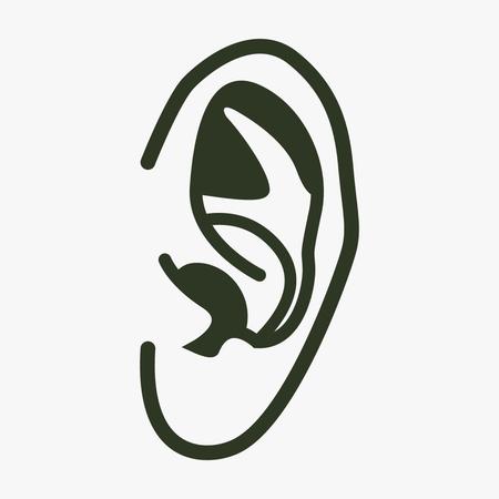 耳のベクター アイコン。  イラスト・ベクター素材