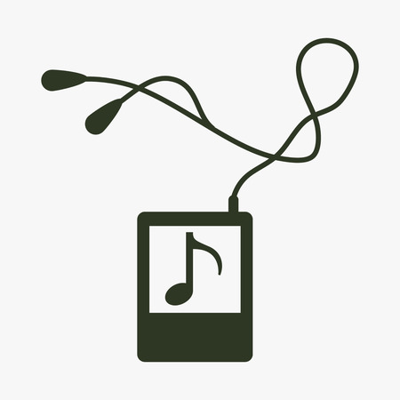 mp: Portable music device icon.