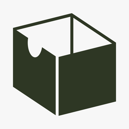 Box vector icon.