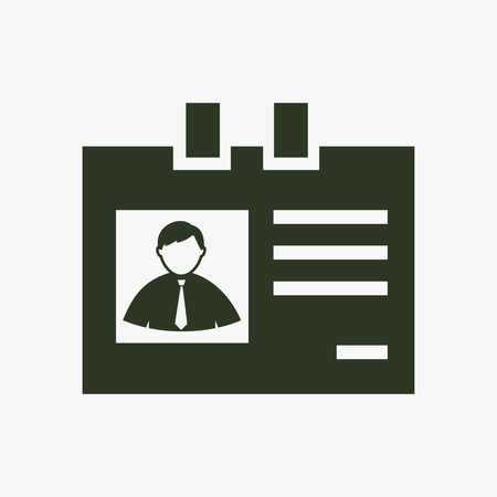 Identification card vector icon. Illustration