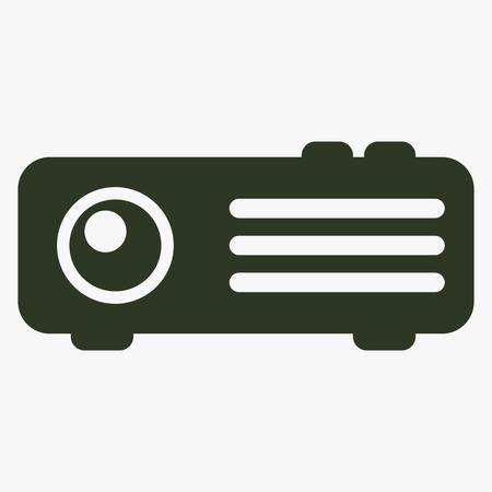 Projector vector icon. Illustration