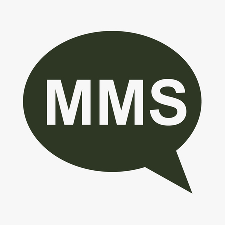 post: MMS cell phone text message icon.