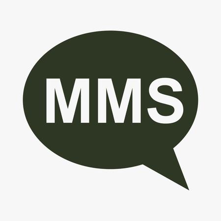 MMS mobiele telefoon sms-pictogram. Stockfoto - 76466111