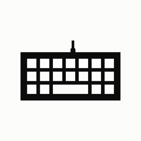 Keyboard flat design illustration. Simple vector icon.