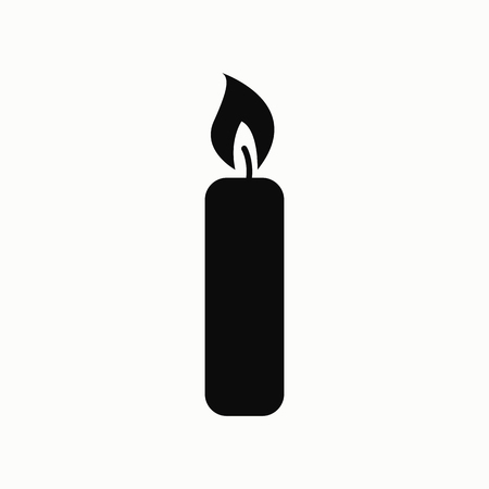 Candle flat design illustration. Simple vector icon. Illustration